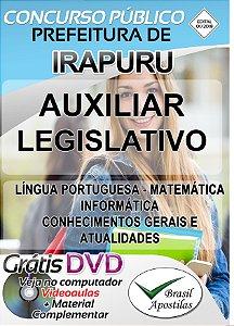 Irapuru - SP - 2019 - Apostila Para Auxiliar Legislativo