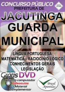 Jacutinga - MG - 2019 - Apostila Para Guarda Municipal