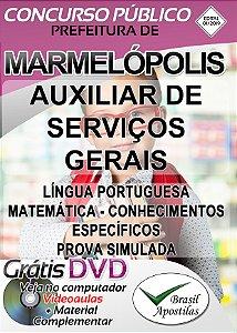 Marmelópolis - MG - Apostila Para Auxiliar de Serviços Gerais