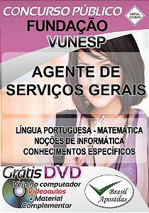 Fundação Vunesp - SP - 2019 - Apostila Para Agente de Serviços Gerais