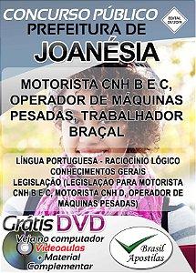 Joanésia - MG - 2018/2019 - Apostilas Para Níveis Fundamental, Médio, Técnico e Superior