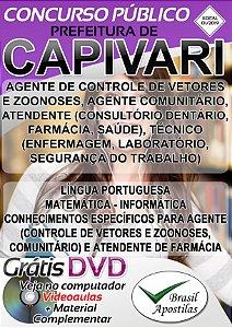 Capivari - SP - 2019 - Apostila Para Nível Médio