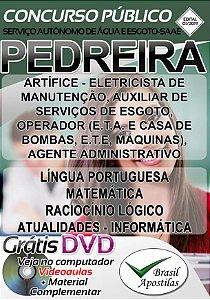 Pedreira - SP - SAAE - 2019 - Apostila Para Nível Fundamental e Médio