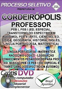 Cordeirópolis - SP - 2019 - Apostila Para Professores