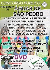 Águas de São Pedro - SP - 2019 - Apostilas Para Nível Fundamental, Médio e Superior