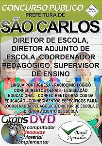 São Carlos - 2019 - Apostila Diretor, Diretor Adjunto, Coordenador Pedagógico e Supervisor de Ensino