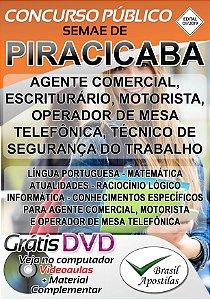 Piracicaba - 2019 SEMAE - Apostila para Nível Médio