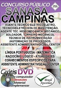 Campinas - 2019 SANASA - Apostila para Nível Médio