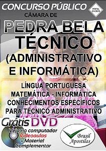 Pedra Bela - SP - Câmara - 2019 - Apostila Para Técnico (Administrativo e Informática)