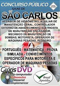 São Carlos - SP - SAAE 2019 - Apostilas Para Nível Fundamental e Médio