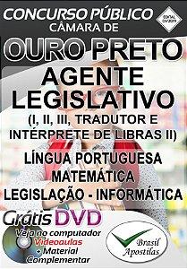Ouro Preto - MG - 2019 - Câmara - Apostila Para Nível Médio