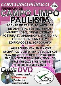 Campo Limpo Paulista - SP - 2019 - Apostilas Para Nível Médio, Técnico e Superior