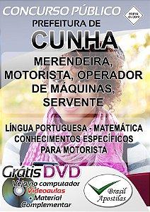 Cunha - SP - 2019 - Apostilas Para Nível Fundamental, Médio, Técnico e Superior