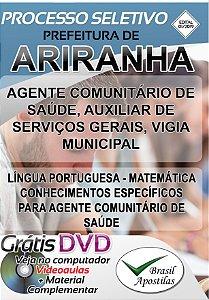 Ariranha - SP - 2019 - Apostilas Para Nível Fundamental, Médio e Técnico
