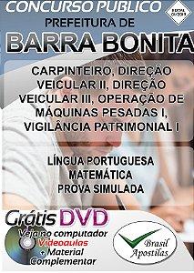 Barra Bonita - SP - 2019 - Apostilas Para Nível Fundamental, Médio e Técnico