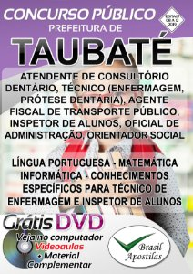 Taubaté - SP - 2019 - Apostilas Para Nível Médio, Técnico e Superior