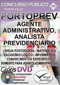 Porto Feliz - SP - 2019 - PORTOPREV - Apostila para Nível Médio e Superior