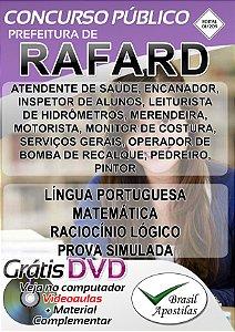 Rafard - SP - 2019 - Apostilas Para Nível Fundamental, Médio, Técnico e Superior