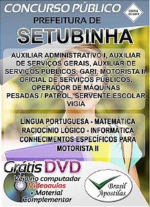 Setubinha - SP - 2019 - Apostilas Para Nível Fundamental, Médio e Superior