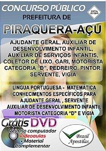 Piraquera-Açu - SP - 2019 - Apostilas Para Nível Fundamental, Médio e Técnico