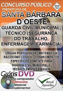Santa Bárbara D´Oeste - SP - 2019 - Apostila Para Nível Médio e Técnico