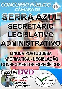 Serra Azul - SP - Câmara - 2019/2020 - Apostila Para Secretário Legislativo