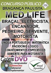 Instituto Social MED LIFE  - Bragança Paulista - SP - 2019 - Apostilas Para Nível Fundamental e Médio