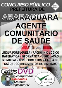 Araraquara - SP - 2019/2020 - Apostila Para Agente Comunitário de Saúde