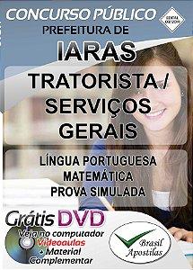 Iaras - SP - 2019/2020 - Apostilas Para Nível Fundamental, Técnico e Superior