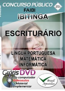 Ibitinga - SP - 2019/2020 - FAIBI - Apostila Para Escriturária