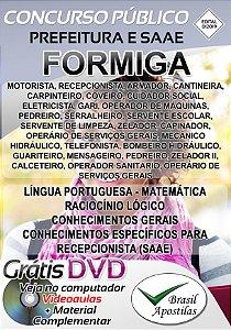 Formiga - MG - 2019/2020 - Apostilas Para Nível Fundamental, Médio, Técnico e Superior