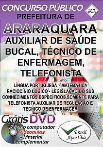 Araraquara - SP - 2019/2020 - Apostilas Para Nível Médio, Técnico e Superior