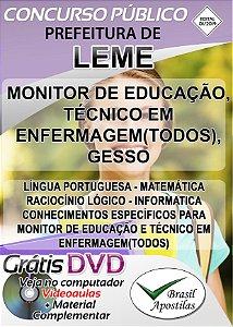 Leme - SP - 2020 - Apostila Para Nível Médio e Técnico