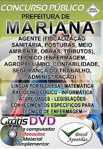 Mariana - MG - 2019/2020 - Apostilas Para Nível Médio, Técnico e Superior