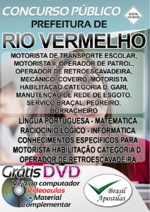 Rio Vermelho - MG - 2019/2020 - Apostilas Para Nível Fundamental, Médio, Técnico e Superior - VERSÃO DIGITAL
