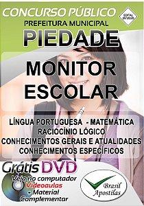 Piedade - SP - 2020 - Apostila Para Monitor Escolar