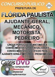 Flórida Paulista - SP - 2020 - Apostilas Para Nível Fundamental, Médio e Superior