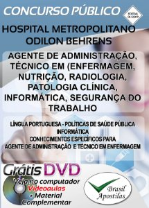 Hospital Metropolitano Odilon Behrens - HOB - Belo Horizonte - MG - 2019 - Apostilas Para Nível Médio e Técnico
