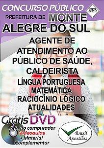 Monte Alegre do Sul - SP - 2020 - Apostilas Para Nível Fundamental e Médio