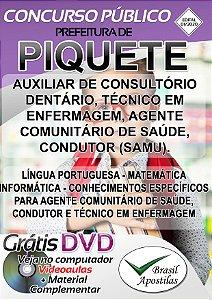 Piquete - SP - 2020 - Apostila Para Nível Médio e Técnico