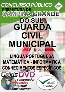 Campina Grande do Sul - PR - 2020 - Apostila Para Guarda Civil Municipal