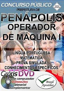 Penápolis - SP - 2020 - Apostila Para Operador de Máquina I