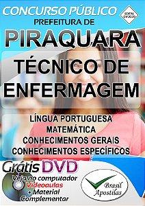 Piraquara - PR - 2020 - Apostila Para Técnico de Enfermagem