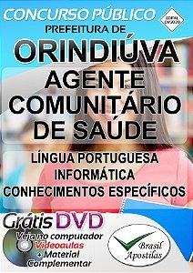 Orindiúva - SP - 2020 - Apostila Para Agente Comunitário De Saúde