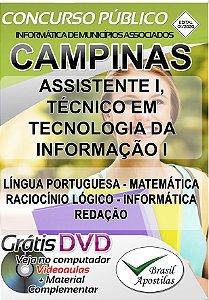 Campinas - IMA - 2020 - Apostila Para Nível Médio e Técnico