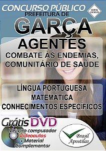 Garça - SP - 2020 - Apostila DIGITAL Para Agente De Combate Às Endemias, Agente Comunitário De Saúde