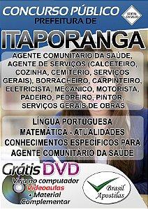 Itaporanga - SP - 2020 - Apostilas Para Nível Fundamental, Médio e Superior