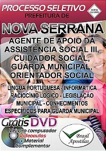 Nova Serrana - MG - 2020 - Apostila Para Nível Médio/Técnico