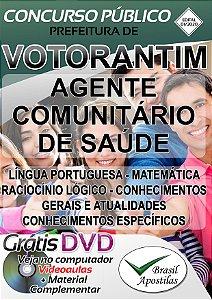 Votorantim - SP - 2020 - Apostila Para Agente Comunitário De Saúde