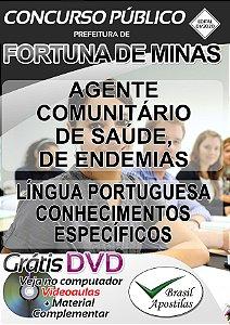 Fortuna de Minas - MG - 2020 - Apostila Para Agente Comunitário De Saúde E Agente De Endemias